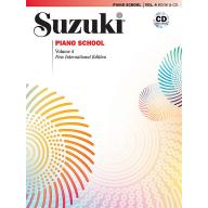 Suzuki Piano School 鈴木鋼琴教本 4 (書+CD)