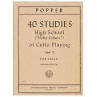 POPPER 40 Studies (High School of Cello Playing), ...