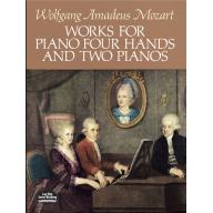 Wolfgang Amadeus Mozart Works for Piano Four Hands...