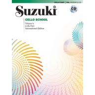 Suzuki Cello School, Vol.4【Cello Book & CD】