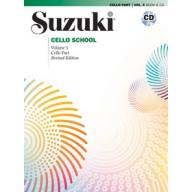 Suzuki Cello School, Vol.5【Cello Book & CD】