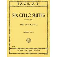 BACH Six Cello Suites, S. 1007-1012