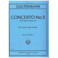 Goltermann concerto No.5 in D minor Op.76 for cell...